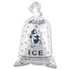 Ice Bag, 12 x 21, 10lb Capacity, 1.5mil, Clear/Blue, 1000/Carton
