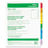 Table 'n Tabs® Dividers with Multicolor Tabs, 1-8 Tab