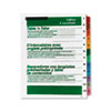 Table 'n Tabs® Dividers with Multicolor Tabs, 1-12 Tab
