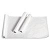 "Exam Table Paper, Deluxe Crepe, 18"" x 125ft, White, 12 Rolls/Carton"