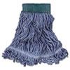 Super Stitch Blend Mop Head, Medium, Cotton/Synthetic, Blue, 6/Carton
