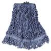 Super Stitch Blend Mop Head, Medium, Cotton/Synthetic, Blue, 6/CT