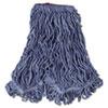Super Stitch Blend Mop Head, Large, Cotton/Synthetic, Blue, 6/CT