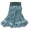 "Web Foot Wet Mop, Cotton/Synthetic, Green, Medium, 5"" Green Headband, 6/CT"