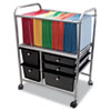 Advantus Letter/Legal File Cart with Five Storage Drawers