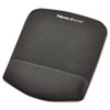PlushTouch Mouse Pad with Wrist Rest, Foam, Graphite, 7 1/4 x 9-3/8