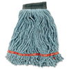 Web Foot Wet Mop Head, Shrinkless, Cotton/Synthetic, Green, Medium, 6/CT