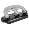 40-Sheet Capacity ProPunch Three-Hole Punch, Rubber Base, Black/Silver
