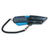 Box Cutter Knife w/Shielded Blade, Black/Blue