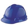 V-Gard Hard Hats, Staz-On Pin-Lock Suspension, Size 6 1/2 - 8, Blue