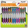 Z-Grip Retractable Ballpoint Pen, Assorted Ink, Medium, 24/Pack