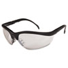 Klondike Safety Glasses, Black Matte Frame, Clear Mirror Lens