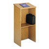 Stand-Up Lectern, 23w x 15-3/4d x 46h, Medium Oak