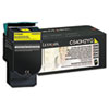 C540H2YG High-Yield Toner, 2000 Page-Yield, Yellow