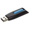 Store 'n' Go V3 USB 3.0 Drive, 16GB, Black/Blue