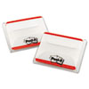 Tabs File Tabs, 2 x 1 1/2, Lined, Red, 50/Pack
