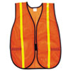 Polyester Mesh Safety Vest, 3/4in Lime Green Stripe, 12/CT