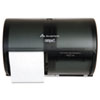 "2-Roll Side-by-Side Coreless High-Capacity Toilet Paper Dispenser by GP Pro, 10.120"" W x 6.750"" D x 7.120"" H, Black"