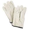 Unlined Pigskin Driver Gloves, Cream, Medium, 12 Pairs