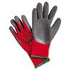 Ninja Flex Latex-Coated-Palm Gloves, Nylon Shell, XL, Red/Gray