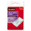 Scotch(TM) Self-Sealing Laminating Pouches