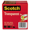 "Transparent Tape 600 72 3PK, 1"" x 2592"", 3"" Core, Transparent, 3/Pack"