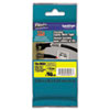 TZe Flexible Tape Cartridge for P-Touch Labelers, 1in x 26.2ft, Black on Yellow