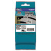 Flexible Tape Cartridge for P-Touch Labelers, 1-1/2in x 26.2ft, Black on White