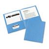 Two-Pocket Folders, LEmbossed Paper, ight Blue, 25/BX