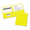 Two-Pocket Folders, Embossed Paper, Yellow, 25/BX