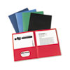 Two-Pocket Folders, Embossed Paper, Assorted Colors, 25/BX