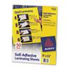 """Self-Adhesive Laminating Sheets, 9"""" x 12"""", 50/BX"""