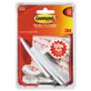 General Purpose Hooks Value Pack, Large, 5lb Cap, White, 3 Hooks & 6 Strips/Pack