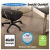 EverLife Chair Mats For Medium Pile Carpet, Rectangular, 46 x 60, Clear