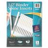 """1/2"""" Binder Spine Inserts, 80/PK"""