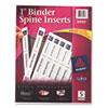 """1"""" Binder Spine Inserts, 40/PK"""