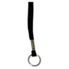 """Deluxe Lanyards, Ring Style, 36"""" Long, Black, 24/Box"""