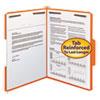 Folders, Two Fasteners, 1/3 Cut Assorted Top Tabs, Letter, Orange, 50/Box