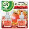Scented Oil Refill, Warming - Apple Cinnamon Medley, 0.67 oz, Orange, 2/Pack