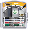 Low Odor & Bold Writing Pen Style Dry Erase Marker, Bullet Tip, Assorted, 4/Pack