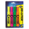 Desk-Style Highlighters, Assorted Colors, Smear Safe™, Nontoxic, 4/ST