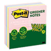 Greener Notes Recycled Note Pads, 3 x 3, Assorted Helsinki Colors, 100-Sheet, 24/Pack
