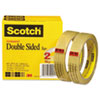 "Double-Sided Tape, 3/4"" x 1296"", 3"" Core, Transparent, 2/Pack"
