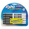 Low Odor Dry Erase Marker, Fine Point, Black, Dozen