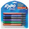 Click Dry Erase Markers, Fine Tip, Assorted, 6/Set