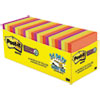 Notes Super Sticky, Pads in Marrakesh Colors, 3 x 3, 70-Sheet, 24/Pack