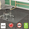 SuperMat Frequent Use Chair Mat for Medium Pile Carpet, Beveled, 45 x 53, Clear