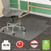 SuperMat Frequent Use Chair Mat for Medium Pile Carpet, 36 x 48 w/Lip, Clear