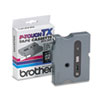 TX Tape Cartridge for PT-8000, PT-PC, PT-30/35, 1/2w, Black on Clear