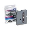 TX Tape Cartridge for PT-8000, PT-PC, PT-30/35, 1/4w, Black on White